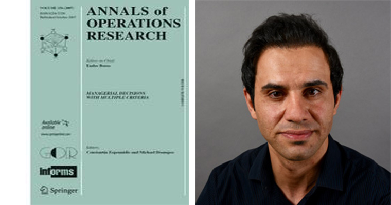 Foad Mahdavi Pajouh and cover of The Annals of Operations Research
