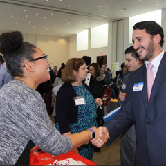 Students meet with prospective employers at Career Expo 2017