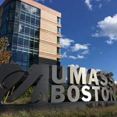 UMass Boston Sign