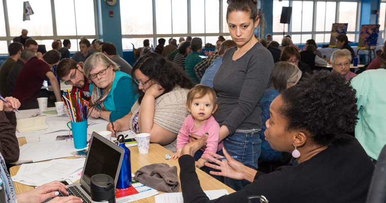 Community stakeholders meet to discuss the potential impacts of climate change